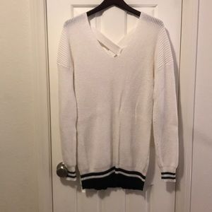 BP white sweater